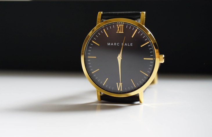 Marc Bale Gold & Black watch