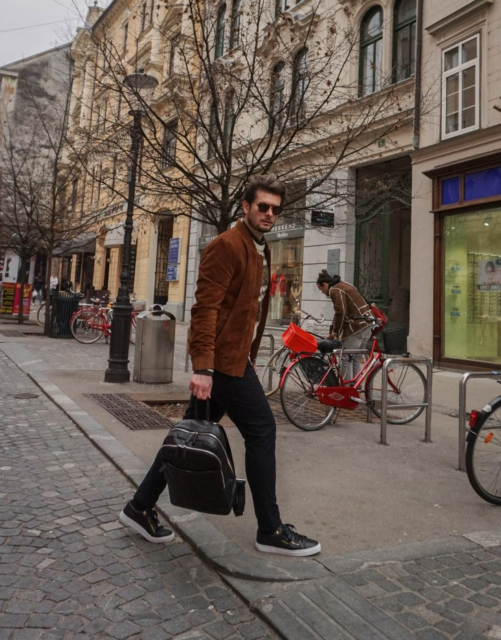 Rale Popic, Bellfield bomber jacker, Jim Rickey sneakers, Zara, Lecharl watches