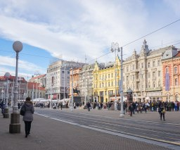 Trg Ban Jelačič, Zagreb Croatia
